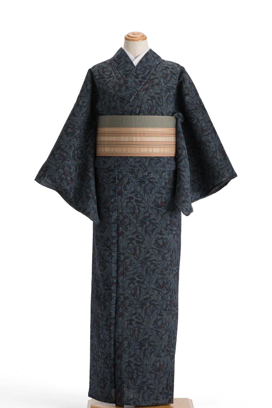 「単衣 紬 菱に花」の商品画像