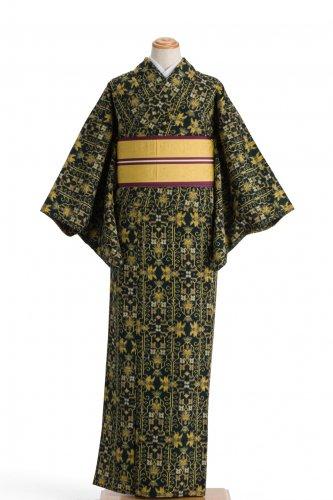 単衣 紬 アイアン調のラインのサムネイル画像