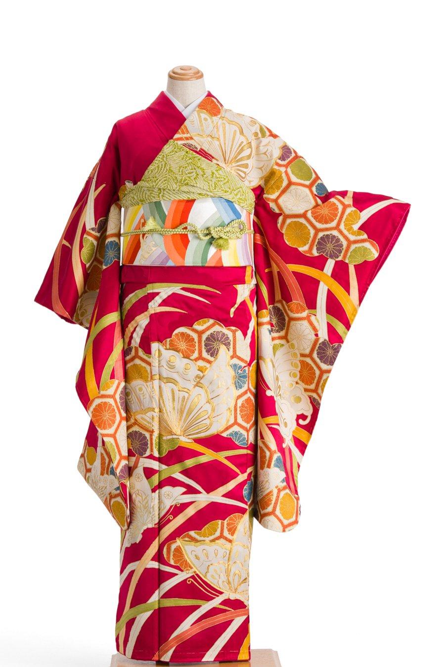 「振袖 亀甲と揚羽蝶」の商品画像