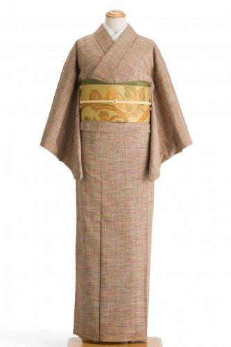 単衣 紬 細い格子のサムネイル画像