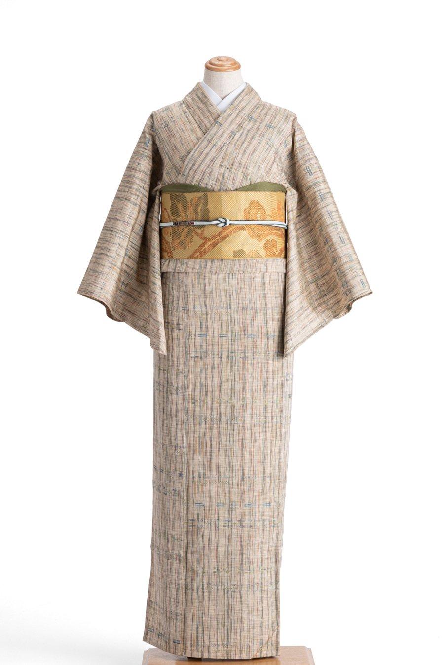 「単衣 紬 ランダムカラーの縞」の商品画像