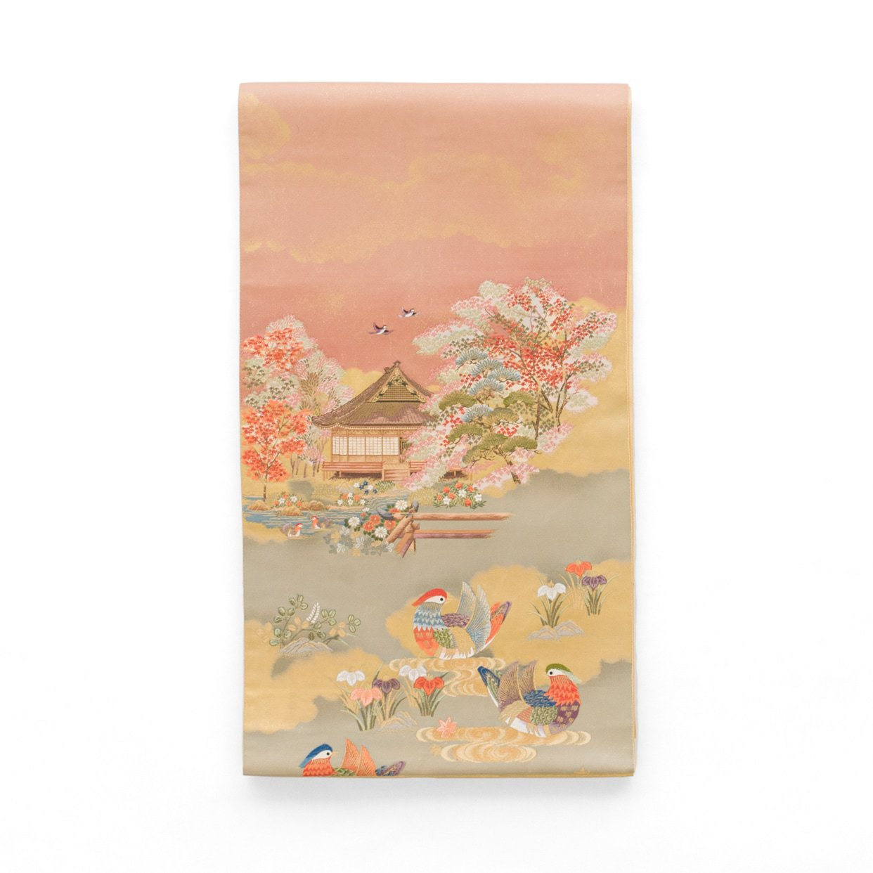 「袋帯●花と水鳥」の商品画像