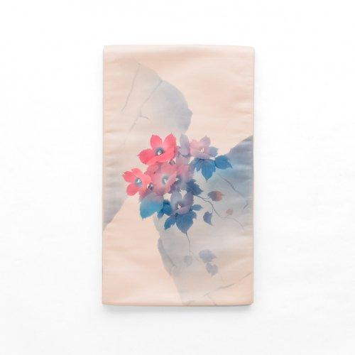 袋帯●水彩風の花のサムネイル画像