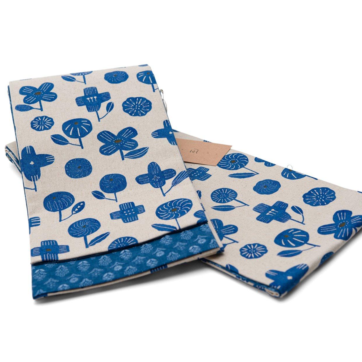 「Nagi 綿麻リバーシブル半幅帯 BLUE」の商品画像