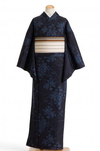 紬 青い椿