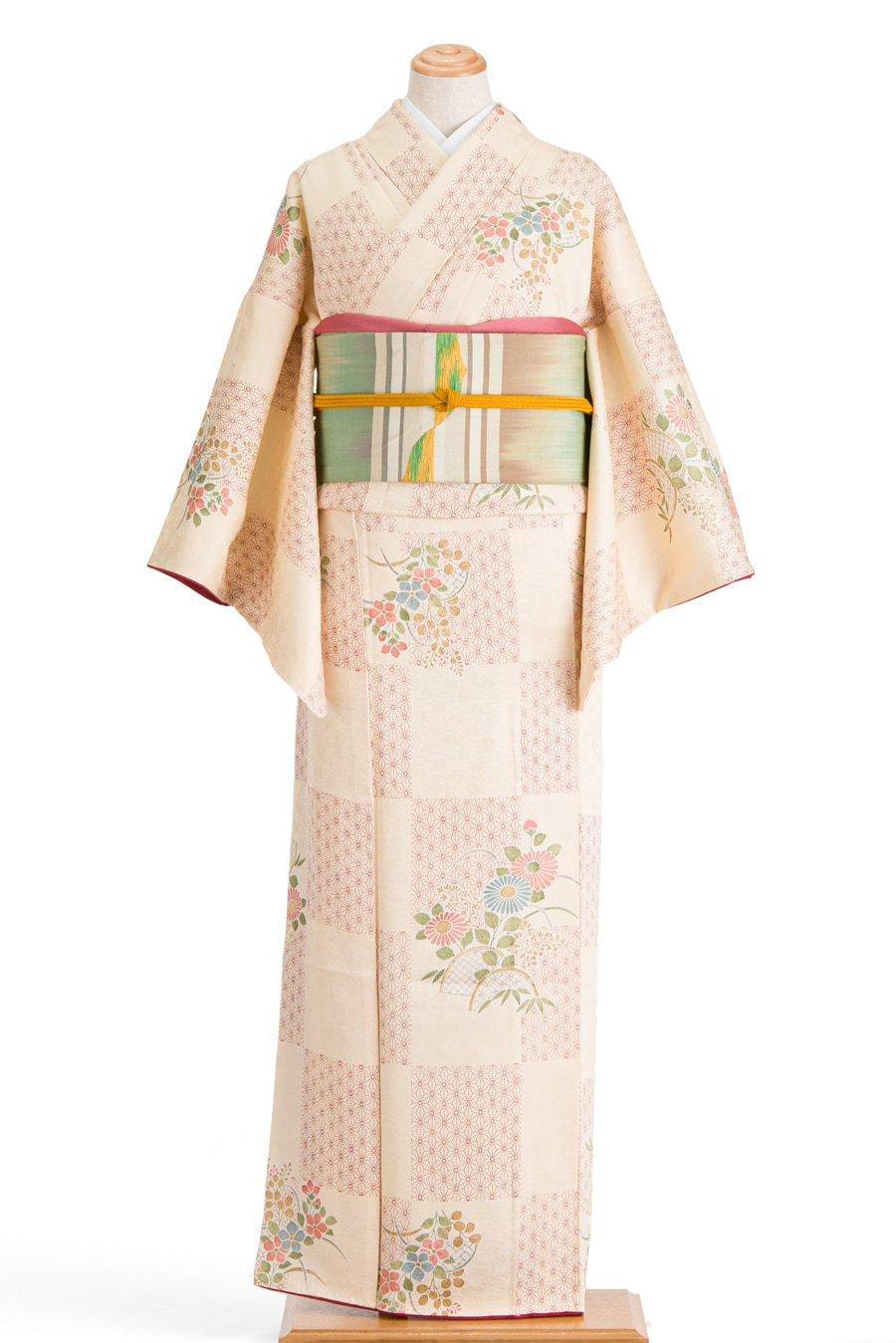 「麻の葉市松に菊 桔梗」の商品画像