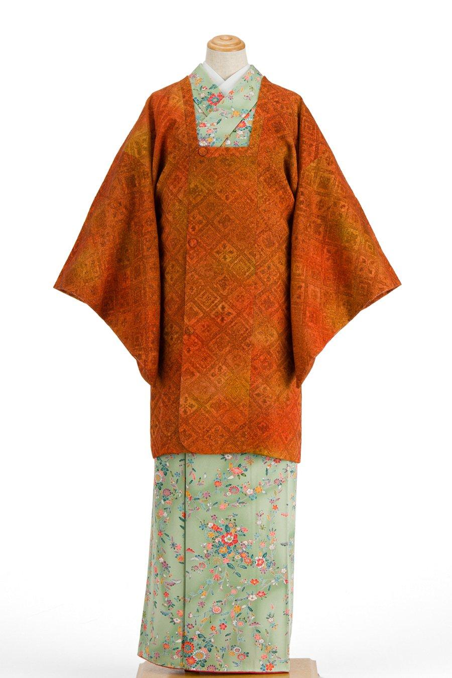 「道行コート 膨れ織りの菱模様」の商品画像