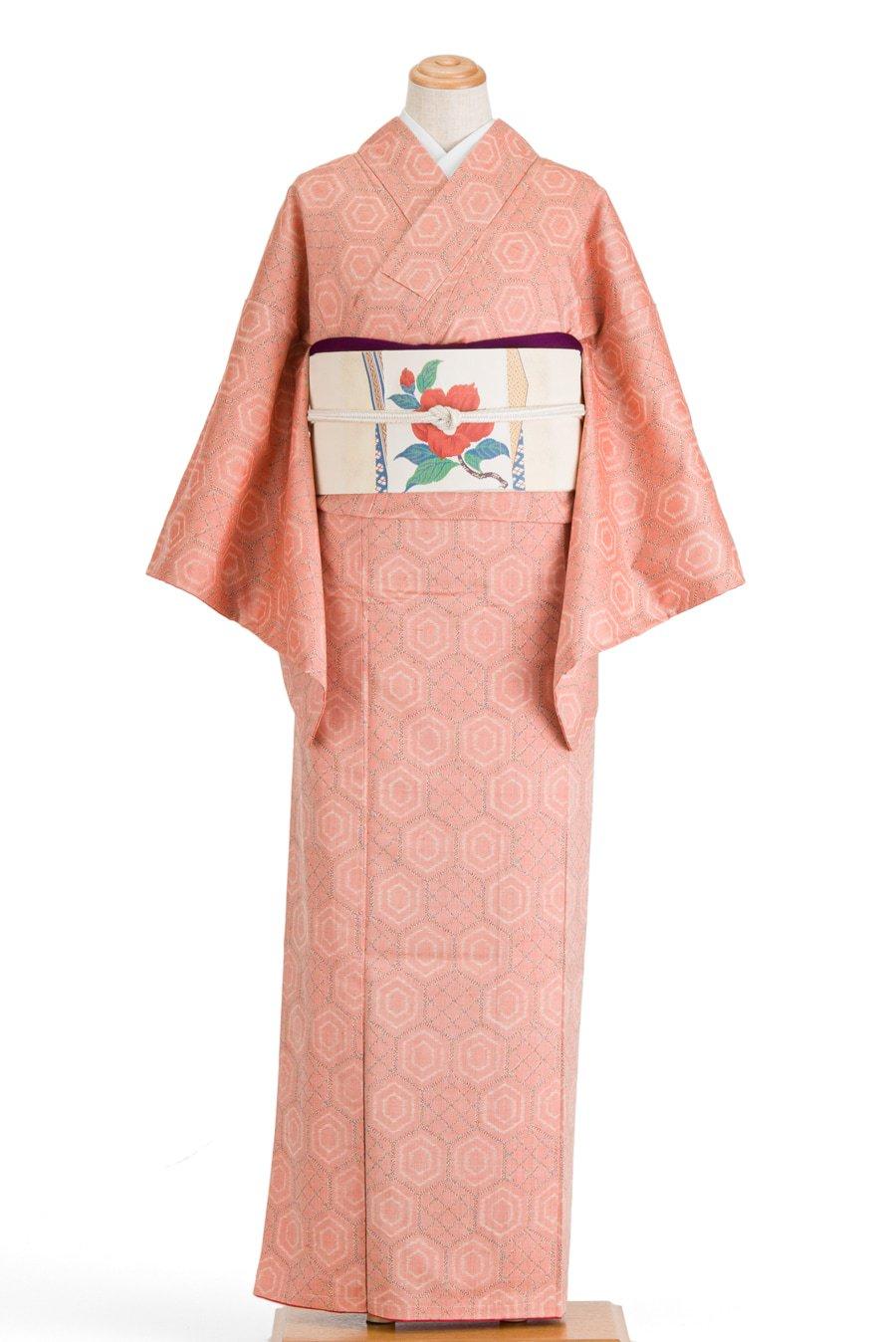 「紬 レトロタイル風 亀甲」の商品画像
