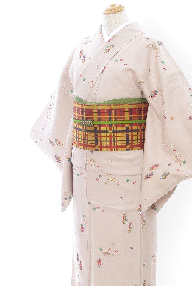 「2点セット*旅装束姿の女性など 格子の帯」の商品画像