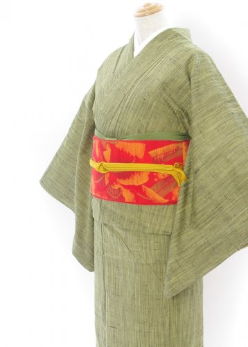 2点セット*お茶色紬 カトレアの帯のサムネイル画像