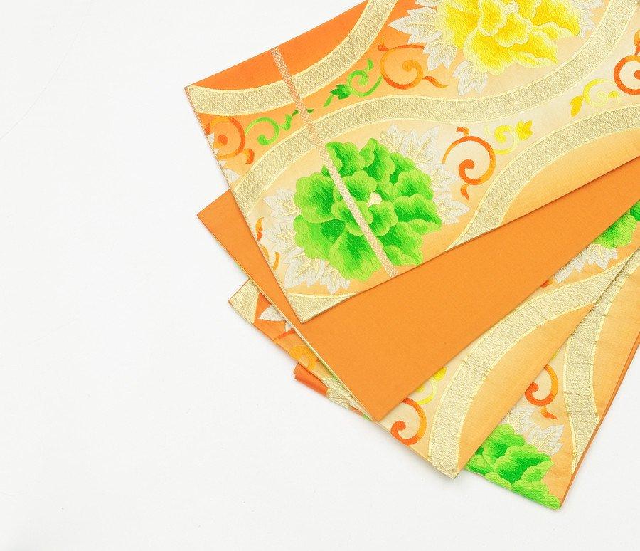 「袋帯●金の立涌 二色の牡丹」の商品画像