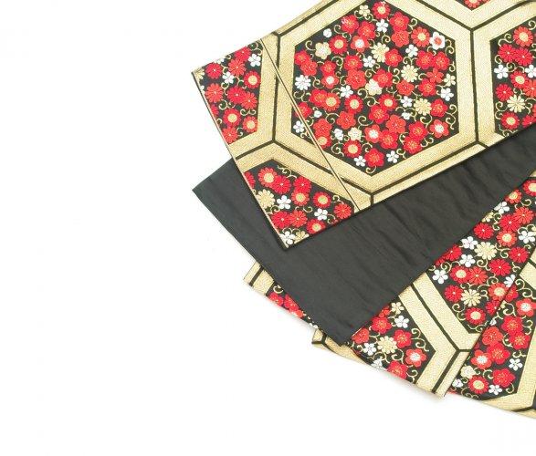 袋帯●金の亀甲 小花織り出しのサムネイル画像