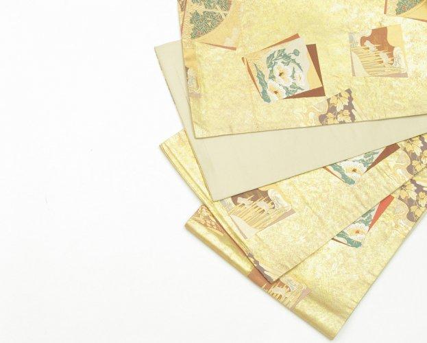 袋帯●金地 花の札のサムネイル画像