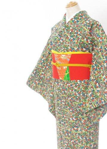 2点セット*小花いっぱいの着物 パッチワークの帯のサムネイル画像