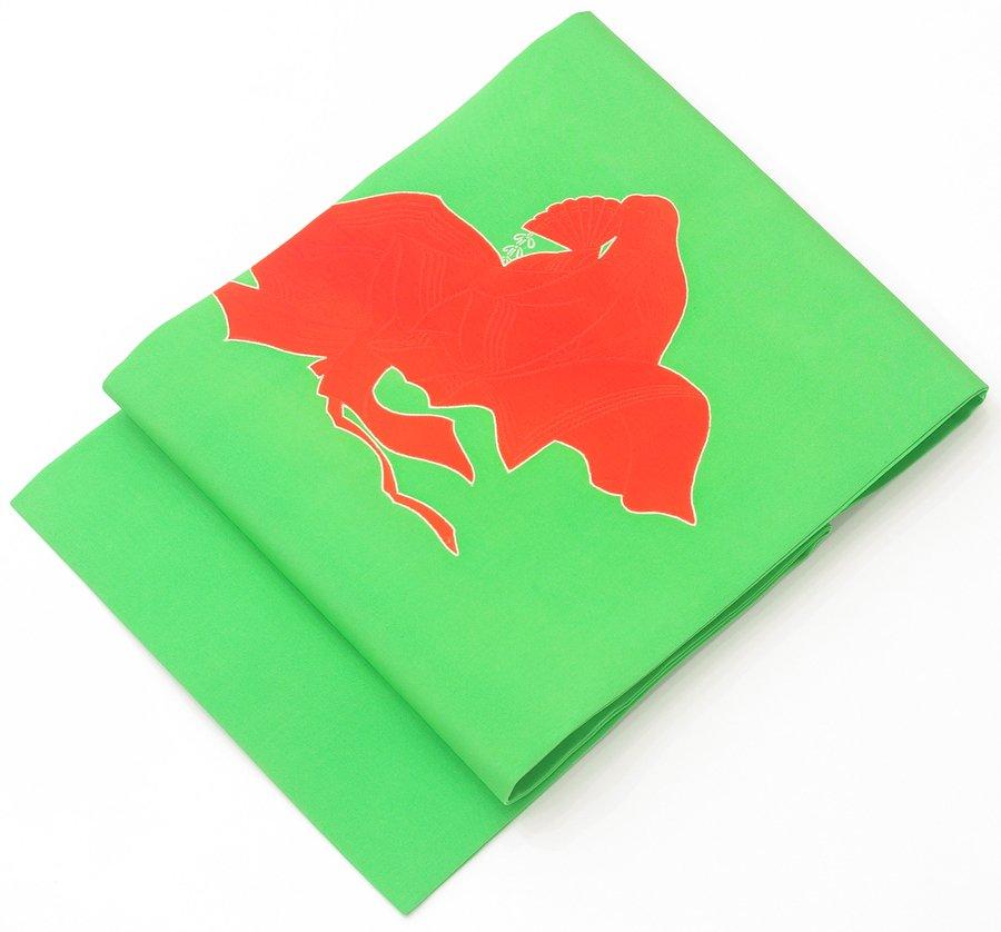 「黄緑地 姫のシルエット」の商品画像