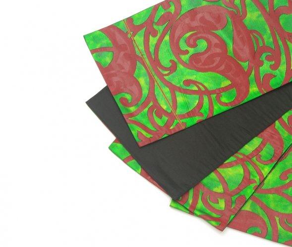 袋帯●金緑色 唐草風の柄のサムネイル画像