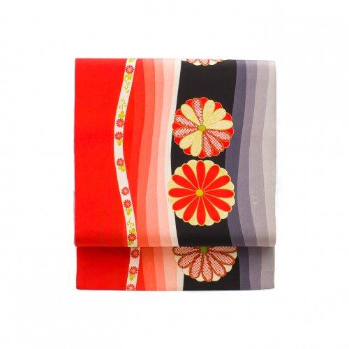 kaico 赤と黒よろけ縞 菊の花のサムネイル画像