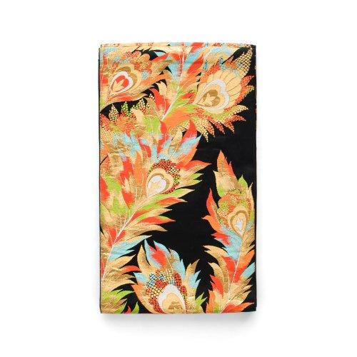 袋帯●黒地に孔雀の羽のサムネイル画像
