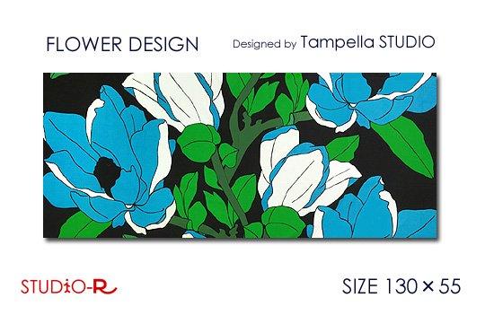 Tampella FINLAND/タンペラ社FLOWER DESIGN/花柄(青)ファブリックパネルファブリックボード