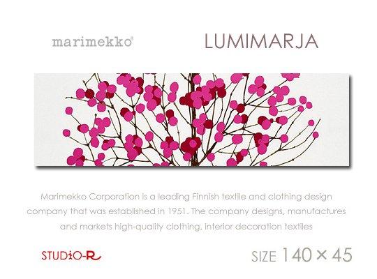 Lumimarja(red)ルミマルヤMarimekko/マリメッコファブリックパネルファブリックボード