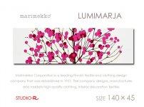 北欧人気デザインLumimarja(red)ルミマルヤMarimekko/マリメッコファブリックパネルファブリックボード