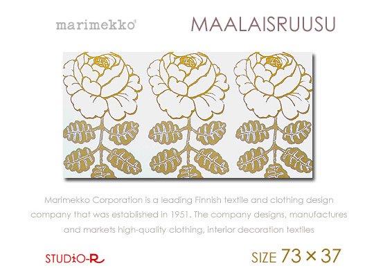 Maalaisruusu(WHT)Marimekko/マリメッコファブリックパネルファブリックボード