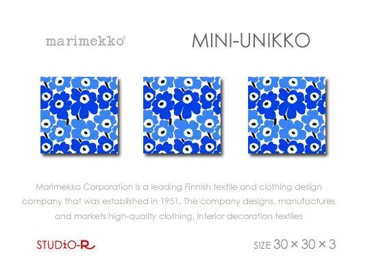 Mini-UNIKKO(BL)Marimekko/マリメッコファブリックパネルファブリックボード