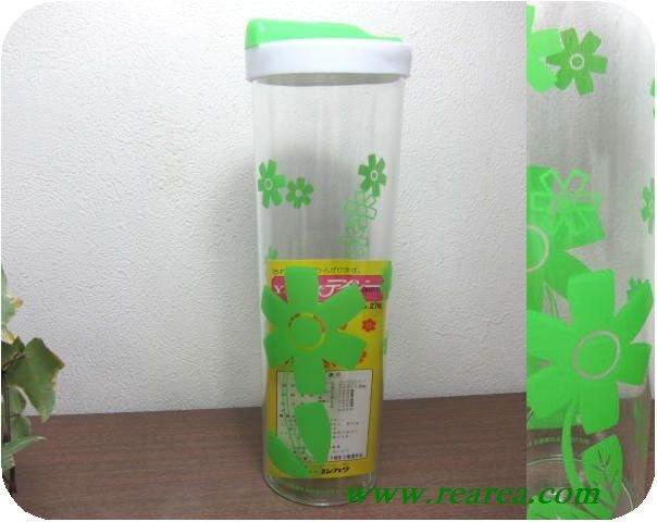 フリーザーポット デイジー 可愛い花柄 0.9L サーバー (プラスチック保存容器ボトルポット〓昭和レトロ雑貨家具デザ…
