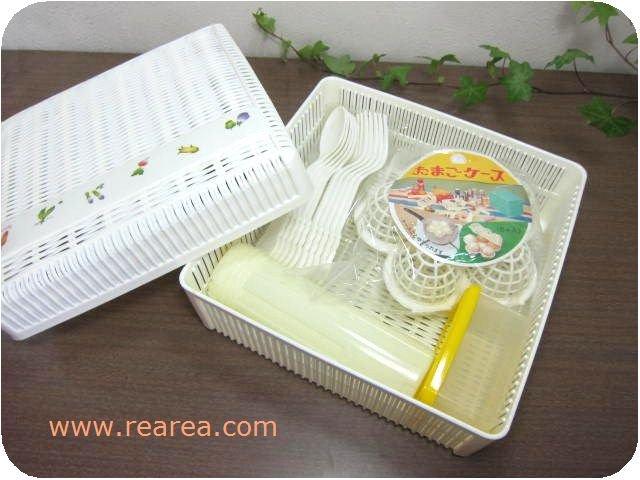完売■ ピクニックボックス ゆでたまごケース 22.5センチ お弁当箱 (アウトドア*昭和レトロキッチンウ…