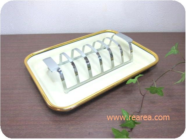 食パンスタンド 6枚  食器立てお皿スタンド(*昭和レトロキッチンウェア