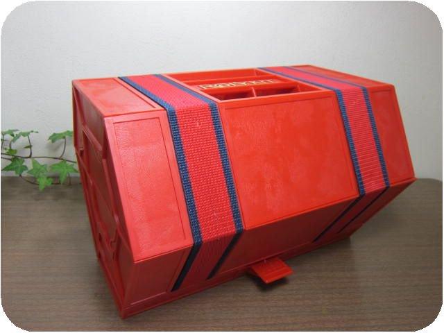 USA製 ROLY KIT ツールボックス 大 レッド(小物入れケース工具BOX〓昭和レトロキッチン雑貨
