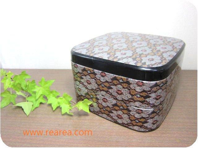 完売■レトロ花柄 2段重箱 プラスチック製  u アウトレット(和風じゅうばこ弁当箱保存容器*昭和レトロキッ…