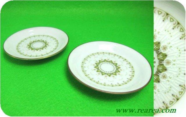 ノリタケ KATRINA カトリーナ ペアプレート9㎝  (小皿日本陶器〓昭和レトロ雑貨デザイン