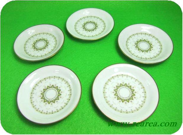 ノリタケ KATRINA カトリーナ プレート9㎝ 5枚 (小皿日本陶器〓昭和レトロ雑貨デザイン