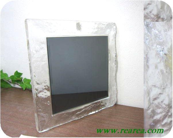 完売■ カガミクリスタル クラフトミラー 壁掛鏡  (各務クリスタルCraft〓昭和レトロ雑貨レトロデザイン