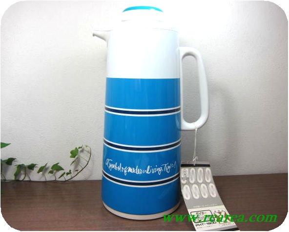 タイガー ニューマインポット ケントストライプ 1.9L  (保温ポット魔法瓶〓昭和レトロ雑貨デザイン