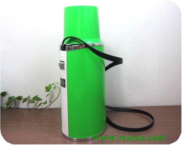 タイガー ピックボトル リール付  0.45L グリーン (保温水筒魔法瓶〓昭和レトロ雑貨デザイン