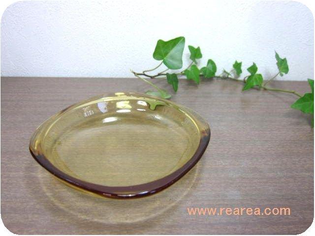 カガミクリスタル カラープレート12センチ イエロー(小皿取り皿Gマーク*昭和レトロ食器