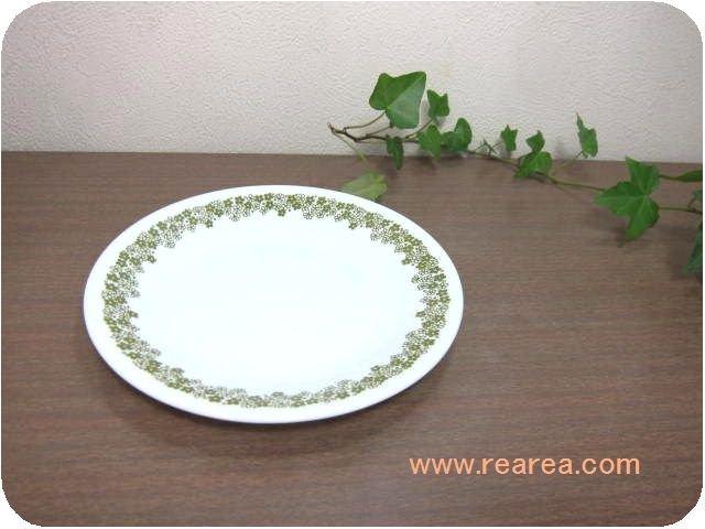 アメリカ製 コレールCOLLERE  小プレート小花柄グリーン(小皿コーニングウェア*昭和レトロ