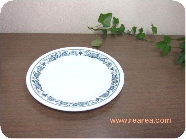 アメリカ製 コレールCOLLERE  小プレート花柄ブルーオニオン(小皿コーニングウェア*昭和レトロ
