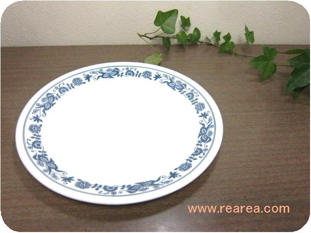 アメリカ製 コレールCOLLERE  中プレート花柄ブルーオニオン(中皿コーニングウェア*昭和レトロ