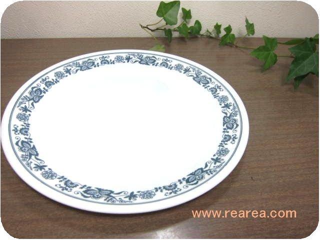 アメリカ製 コレールCOLLERE  大プレート花柄ブルーオニオン(大皿コーニングウェア*昭和レトロ