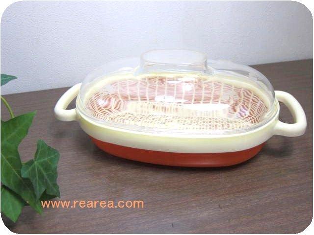 タケヤプラスチック Bell 水切りザル付き保存容器 15×22センチ (調理トレー食器*昭和レトロ雑貨