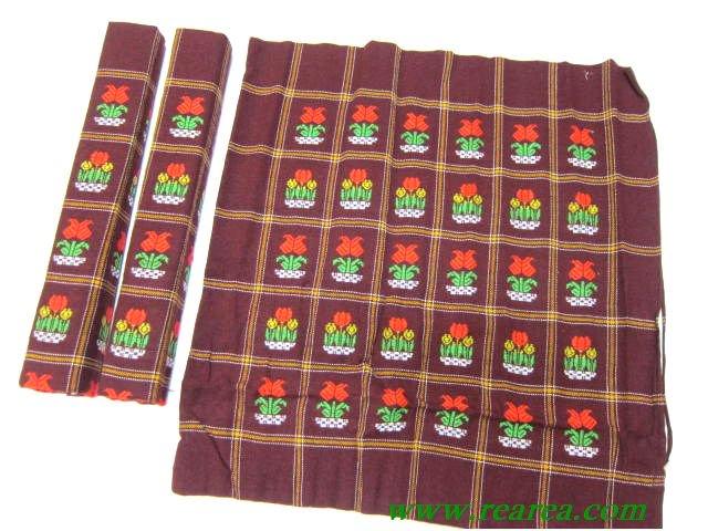完売■リトルフラワー 座布団カバー 3枚セット   (クッションカバーカバー花柄〓昭和レトロ雑貨