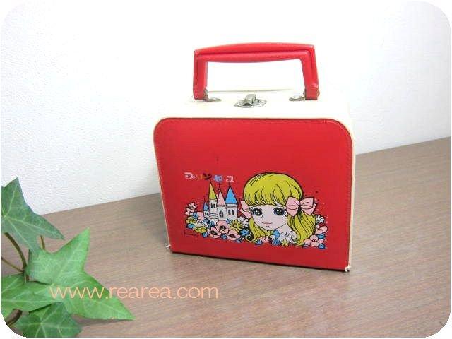 プリンセス ハンドバッグBOX  小物入れ高14×17×8センチ  y(ボックスケース*昭和レトロ雑貨