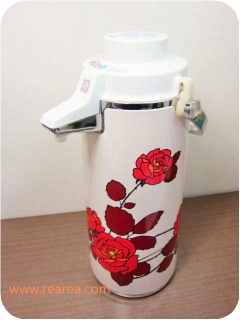 完売■象印 エアーポット 2.2L ニューローゼット SS-2200 薔薇バラ(魔法瓶保温*昭和レトロキッチン