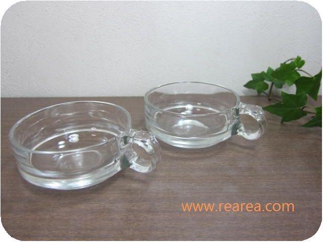HOYA ガラスカップ ペア クリア 耐熱ガラス(保谷ガラス*昭和レトロ雑貨