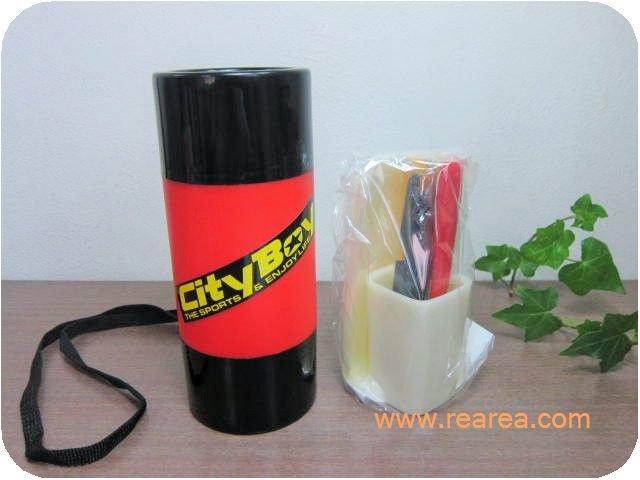 City Boy レジャーセット レッド 携帯用ピクニック食器セット ナイフ皿コップ(アウトドア*昭和レトロ…