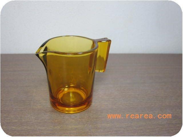 アンバーガラス製 クリーマー   (*昭和レトロ雑貨