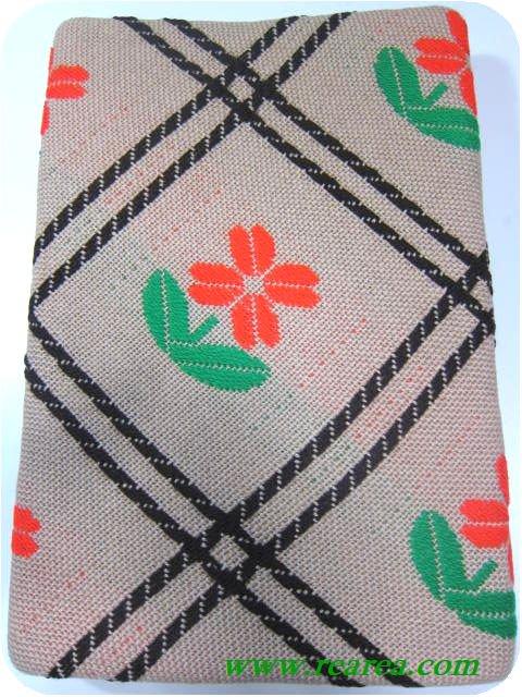 完売■ 花柄チェック こたつカバー ♯497 Corona (こたつ上掛けコタツ上掛〓昭和レトロデザイン